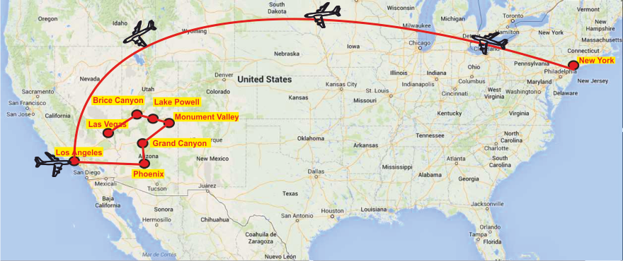 Parchi Usa Cartina.Stati Uniti Tour New York I Parchi Dell Ovest Multilingue 12 Gg Antichi Splendori